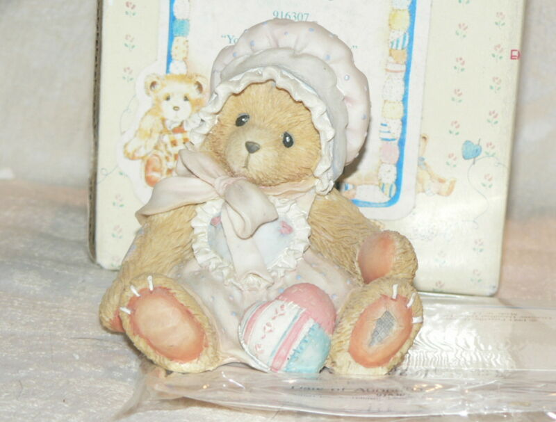 Cherished Teddies 1993 Kelly Bear w/ Heart Figurine 916307 EXC Complete Retired