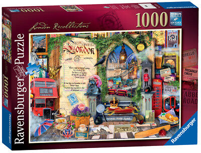 19757 Ravensburger London Recollections Jigsaw 1000pc Puzzle Adult Children - Adult Puzzles