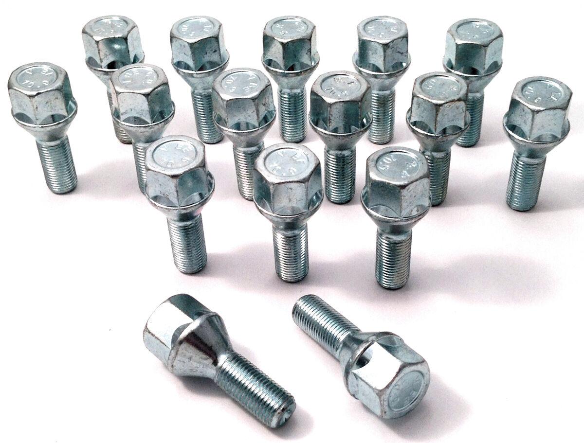 wheel bolts M12 x 1.25 26mm thread taper seat Alfa Romeo x 5 19mm Hex