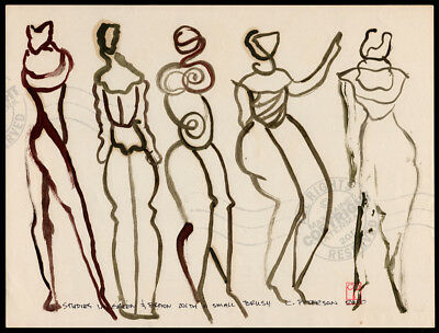 #22 Modern Art Figure Series ORIGINAL OIL PAINTING Urban ABSTRACT Nudes SIGNED (Modern Art Series)