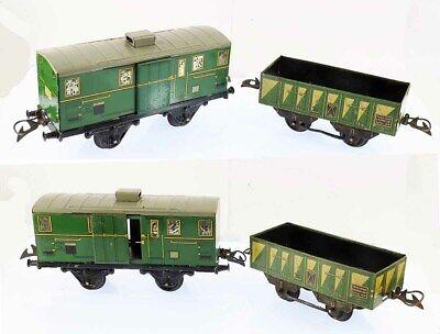 Train echelle O HORNBY WAGONS FOURGON - RIDELLES vers 1938 / jouet ancien