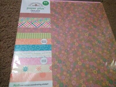 Scrapbooking Crafts 12x12 Paper Pack Doodlebug Variety $15 Spring Flowers Plaid Plaid Scrapbooking Paper