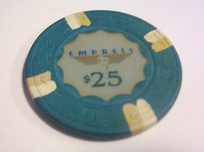 $25 GAMING CHIP EMPRESS CASINO Famous Illinois Casino Easy Poker Gambling Chip