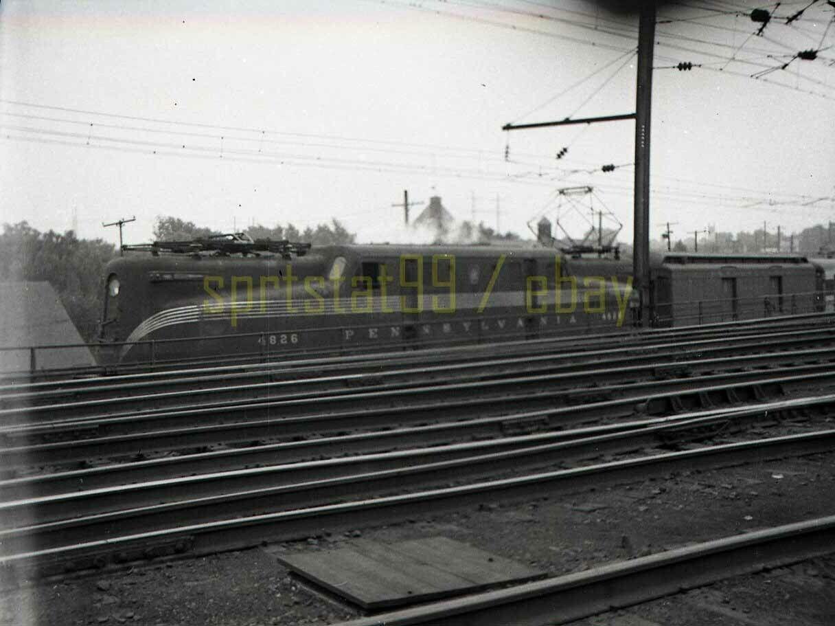 1949 PRR Pennsylvania Railroad Altoona GG1 Locomotive #4826 - Vintage Negative
