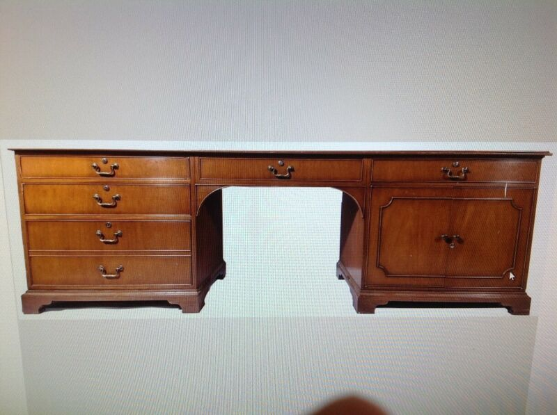 Kittinger Desk with Six Dovetailed Drawers and Manufacturers Stamp & Serial #