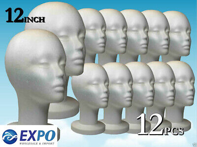 Wig Styrofoam Head Foam Mannequin Display Mask 12 12pcs