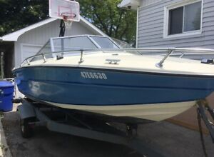 1981 Tempest Inboard Outboard Runabout Boat