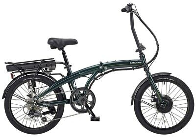 Lectro Rapide Folding 36Volt 250w 6 Speed Electric Bike Green - LE023