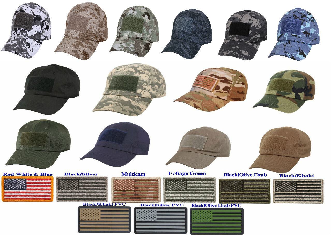 Adjustable Operator Cap + American Flag Patch Special Force