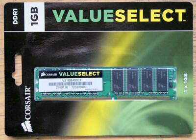 1GB Corsair VS1GB400C3 DDR1 PC-3200 400MHz 184-Pin 2.5V DIMM Desktop RAM
