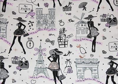 SAFECO FRANCE Ooh La La Paris Theme Attractions Thick Tablecloth 60 x 120 - Paris Themed Tablecloth