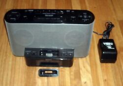 Sony Dream Machine ICF-CS10iP iPod Dock Shelf Stereo System AM/FM Clock Radio