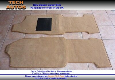 Austin MG Morris 1100 1300 Handmade to Order Tufted Deep Pile Over Mat Set