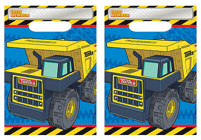 Tonka Truck Loot Favor Treat Bags Boys Construction Birthday Party Supplies ~ 16 - Tonka Truck Party Supplies