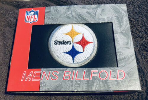 Pittsburgh Steelers NFL Embroidered Leather Billfold Bi-fold
