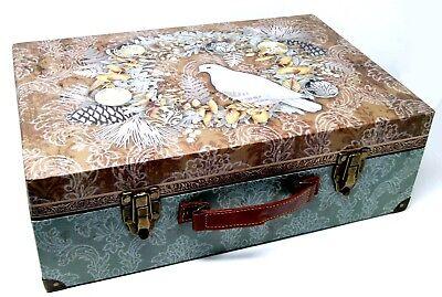 Punch Studio Nesting Valet Suitcase Chest Box Dove Wreath Christmas 61092 Large