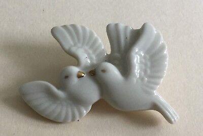 Dove Costume (Vintage Lenox Porcelain Double Dove Costume Pin)