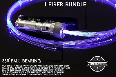 Incredible Light show Fiber Optic End Glow Fibers portable AAA flow whip EDM USA