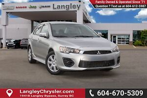 2016 Mitsubishi Lancer ES <B>*LOCAL BC *SINGLE OWNER<B>