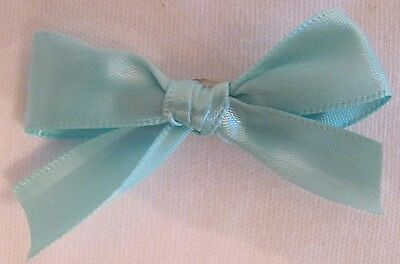 Mint Green Satin Dog Puppy Pet Hair Bow Ribbon on Alligator Clip Dog Puppy Mint