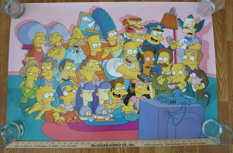 The Simpsons Autograph Signed Movie Poster Matt Groening