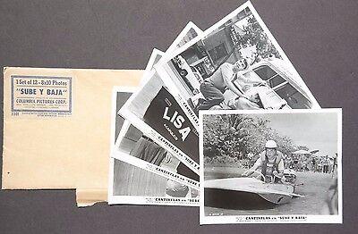 Vtg 1959 Sube Y Baja Movie Press Kit Photos (Teresa Velazquez) Cantinflas En