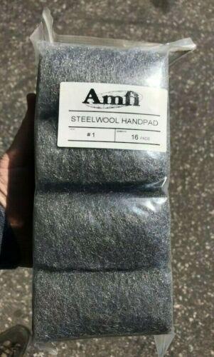 Steel Wool - #1 - Case of 12 packs - 16 pads per pack