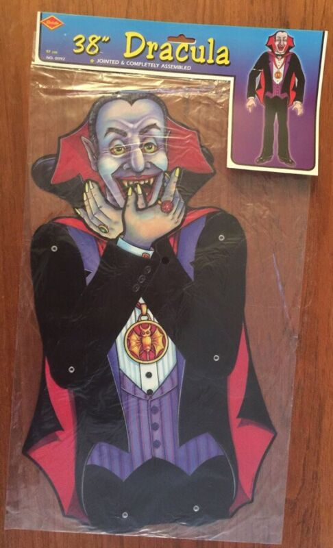 "Beistle Jointed Halloween Decoration 38"" Dracula NOS-01192 Vintage 1998"