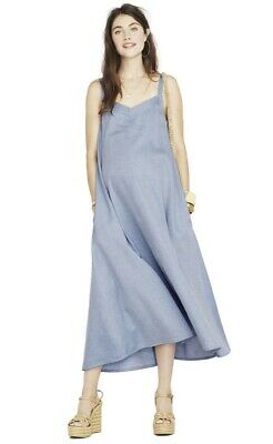 Hatch Maternity Women's THE JULIENNE DRESS Chambray Size 1 (S/4-6) NEW