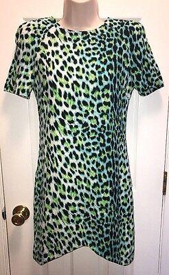 New Mika & Gala Women's Leopard High Low Aqua Dress 8 LF Store