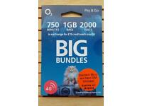 O2 BIG BUNDLES Sim Cards