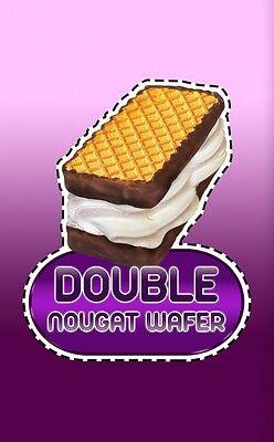 ICE CREAM VAN STICKER  Nougat Wafer        #50