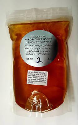 Wildflower Honey Naturally Crystallized Pure Really Raw Honey   Free Shipping  B