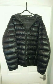 Lightweight Down Jacket - Mens UK Size Large - Black