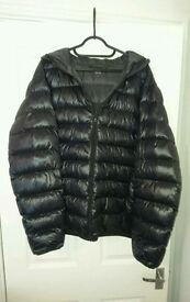 Lightweight Down Jacket - Mens UK Size Large - Black