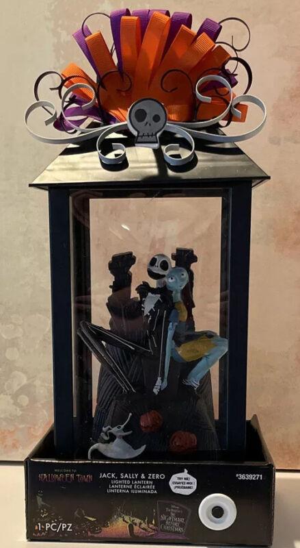 Disney The Nightmare Before Christmas Jack Sally And Zero Lighted Lantern