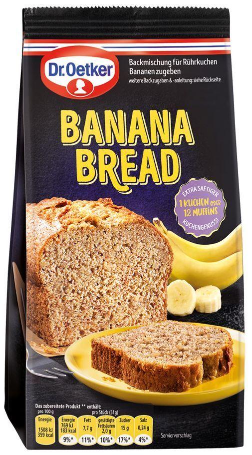 (1000g=7,48€) Dr. Oetker Bananen Brot - Kuchen Muffin Backmischung - 400g