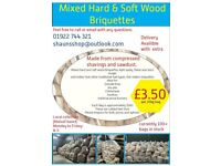 Mixed Hard and Soft Wood Briquettes