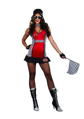 Rev My Engine  Sexy  Sassy Race Car Driver  Womens Large Costume Alexa