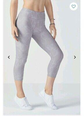 fabletics salar powerhold bloomfield capri gym yoga leggings pants grey xs uk 8