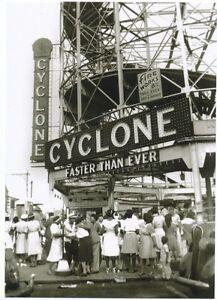 1948 CYCLONE Roller Coaster Coney Island + Brooklyn Negroes NYC Modern Post Card