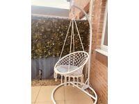Macrame Outdoor Swing & Stand Set