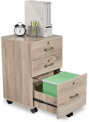 3-drawer File Cabinet Wrolling Wheel Office Cabinet Printer Stand
