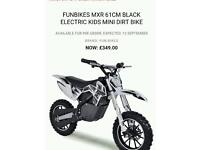 Childs electric motocross bike