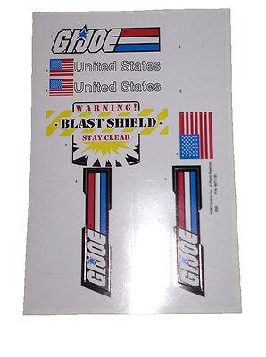 GI Joe Defiant Space Shuttle Full Set Crawler Gantry Booster Sticker Decal Sheet