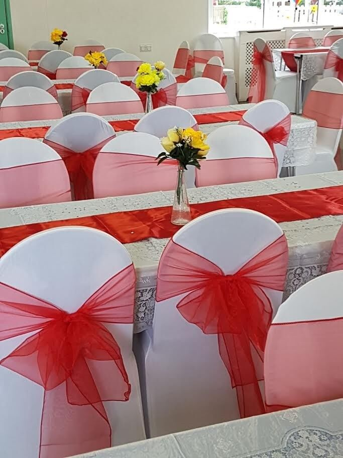 chair cover table linen and candy cart for hire in clapham