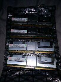 HYNIX HYMP151F72CP4N3-Y5 4GB ( 1 X 4GB ) PC2-5300 DDR2-667MHZ SDRAM, ( SERVER RAM ) memory
