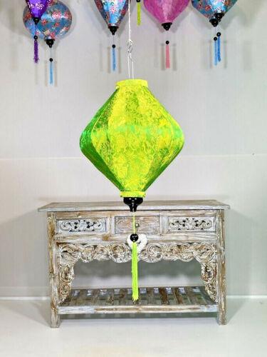 GREEN HANGING LANTERNS, Traditional Hoi Ann Silk Lanterns, Asian Garden Lanterns