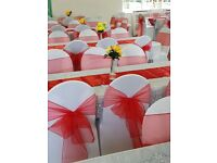 white chair covers for hire