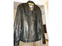 Black Leather jacket (Large)